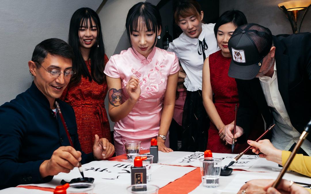 Fête nationale chinoise – MonAsia a organisé un cours de calligraphie