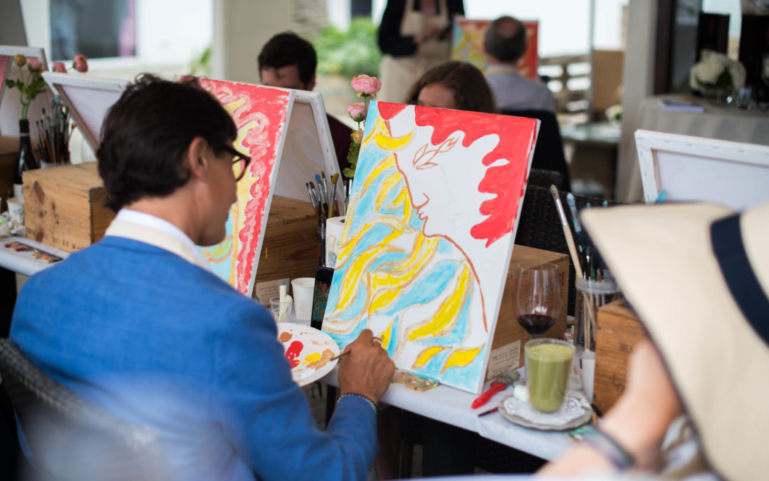 June 2020 Wine & painting afternoon by MonAsia