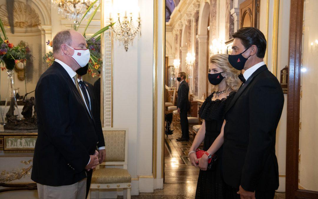 M. Nefedov, le Président de MonAsia, accueilli par S.A.S. le Prince Albert II au Palais Princier