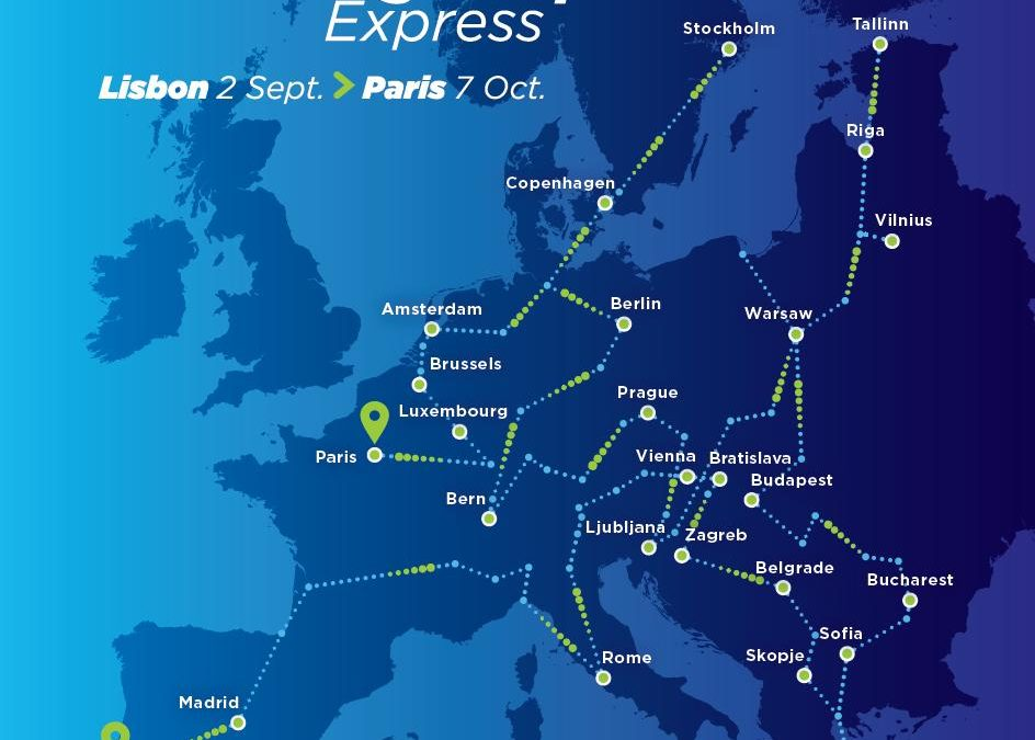 The Connecting Europe Express will travel across 26 countries